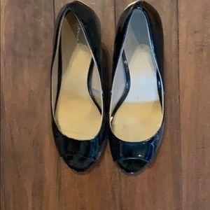 10W Lane Bryant peep toe 2.5 inch  heels!